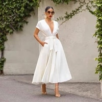 luoyiyang sexy deep v neck white casual dress womens spring and autumn fashion and elegant party dresses for women clothes