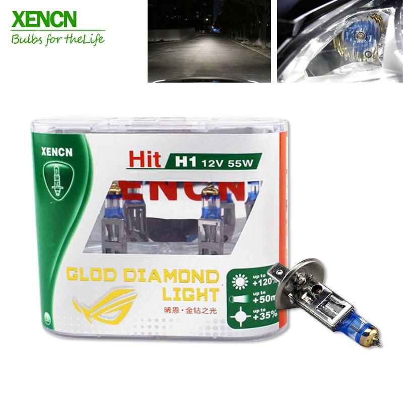 XENCN 12V 4300k Gold Diamond Replacement Car Headlight Auto Fog Lamps H1 H3 H4 H7 H8 H9 H10 H16 880 881 HB4 9006