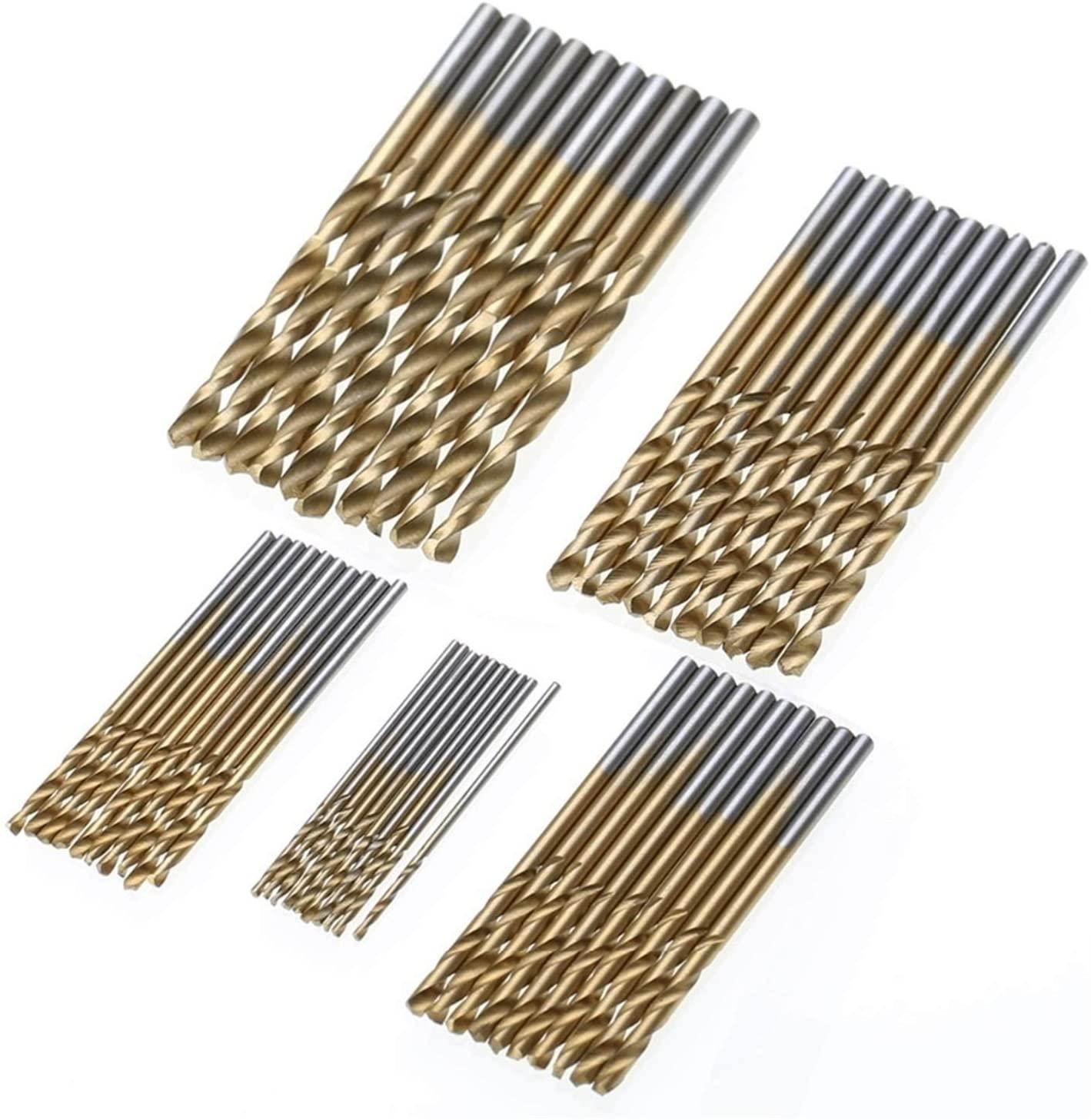 50 шт. набор сверл с титановым покрытием Mayitr HSS Mini сверло для извлечения 1/1, 5/2/2, 5/3 мм для металла, дерева, алюминия, сверлильные инструменты