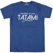 Tatami camiseta desde 09 gewaschen blau camiseta BJJ Jiu Jitsu Freizeit No-Gi