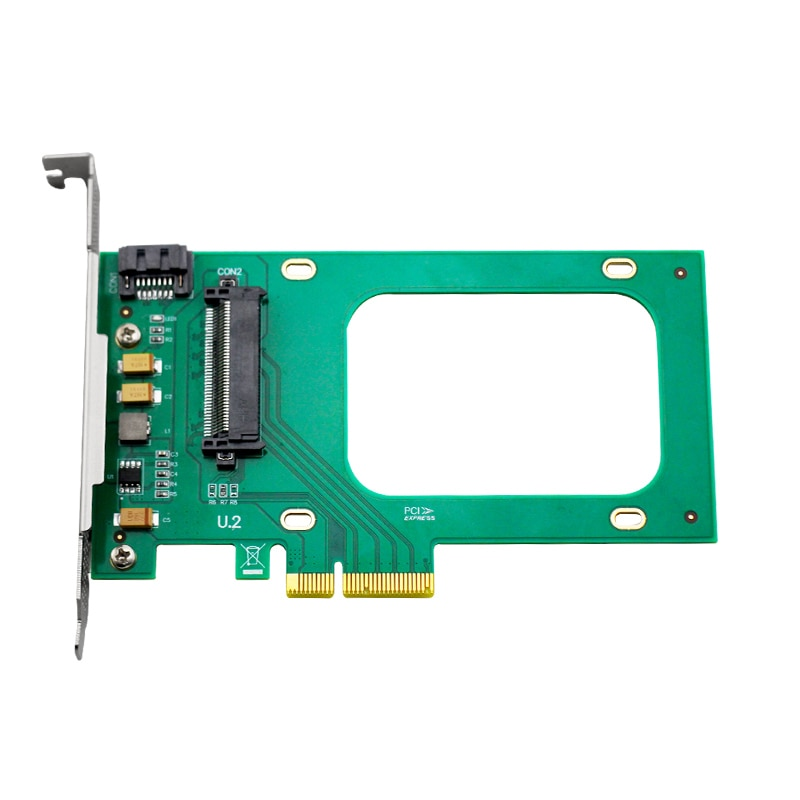 NVMe контроллер ANU2PE04 U.2 PCIe X4 контроллер Поддержка U.2 HDD, PCIe To SFF8639 (U.2) не с SSD