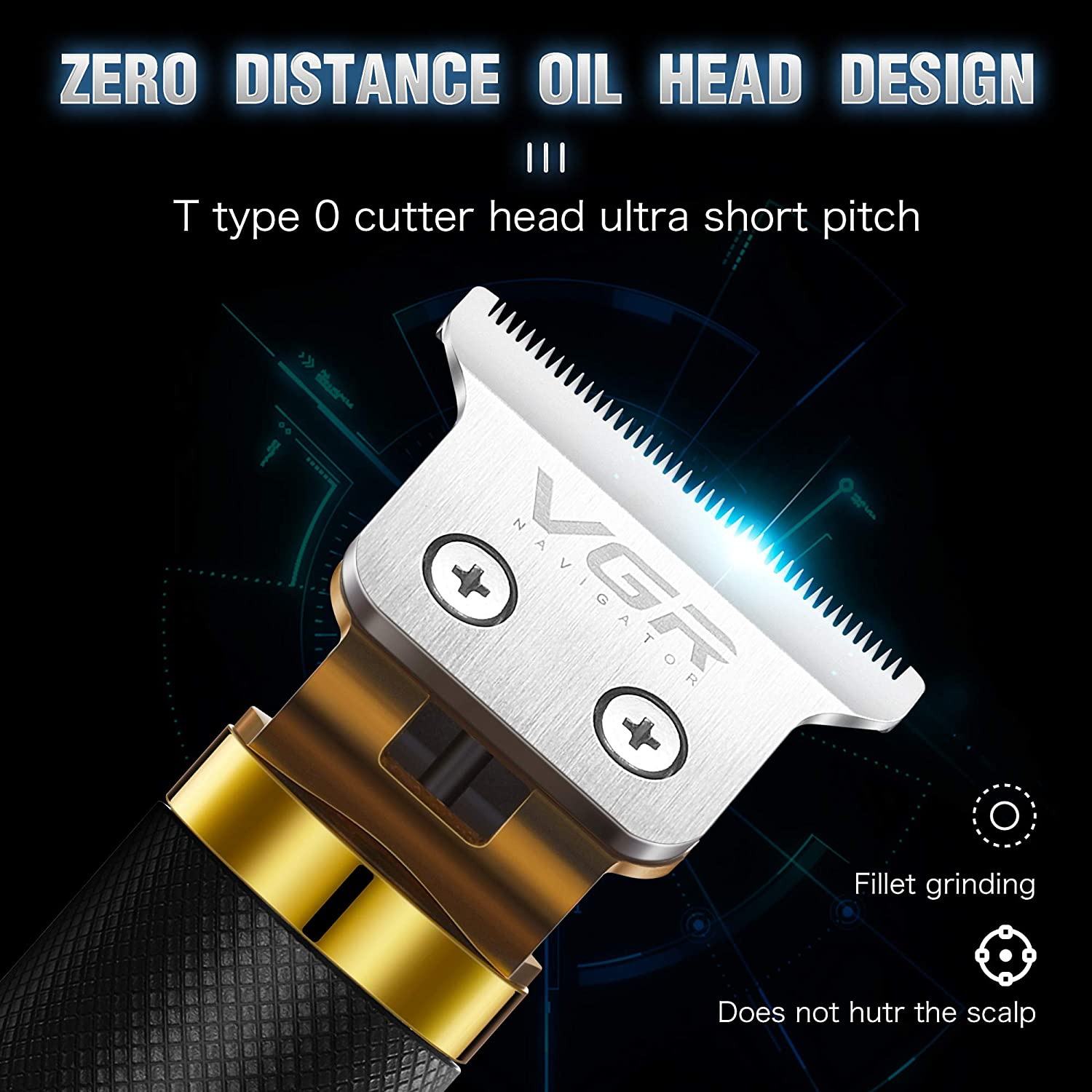 professional 2020 hair clippers trimmer zero gapped outliner hair shaver machine hair cutting beard cordless barber for men enlarge