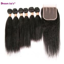 Pacotes de cabelo reto brasileiro cor natural 70% feixes tecer cabelo humano remy extensão do cabelo sonho gelo