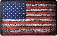 rili 8 x 12 vintage american flag tin sign man cave home decor metal signs
