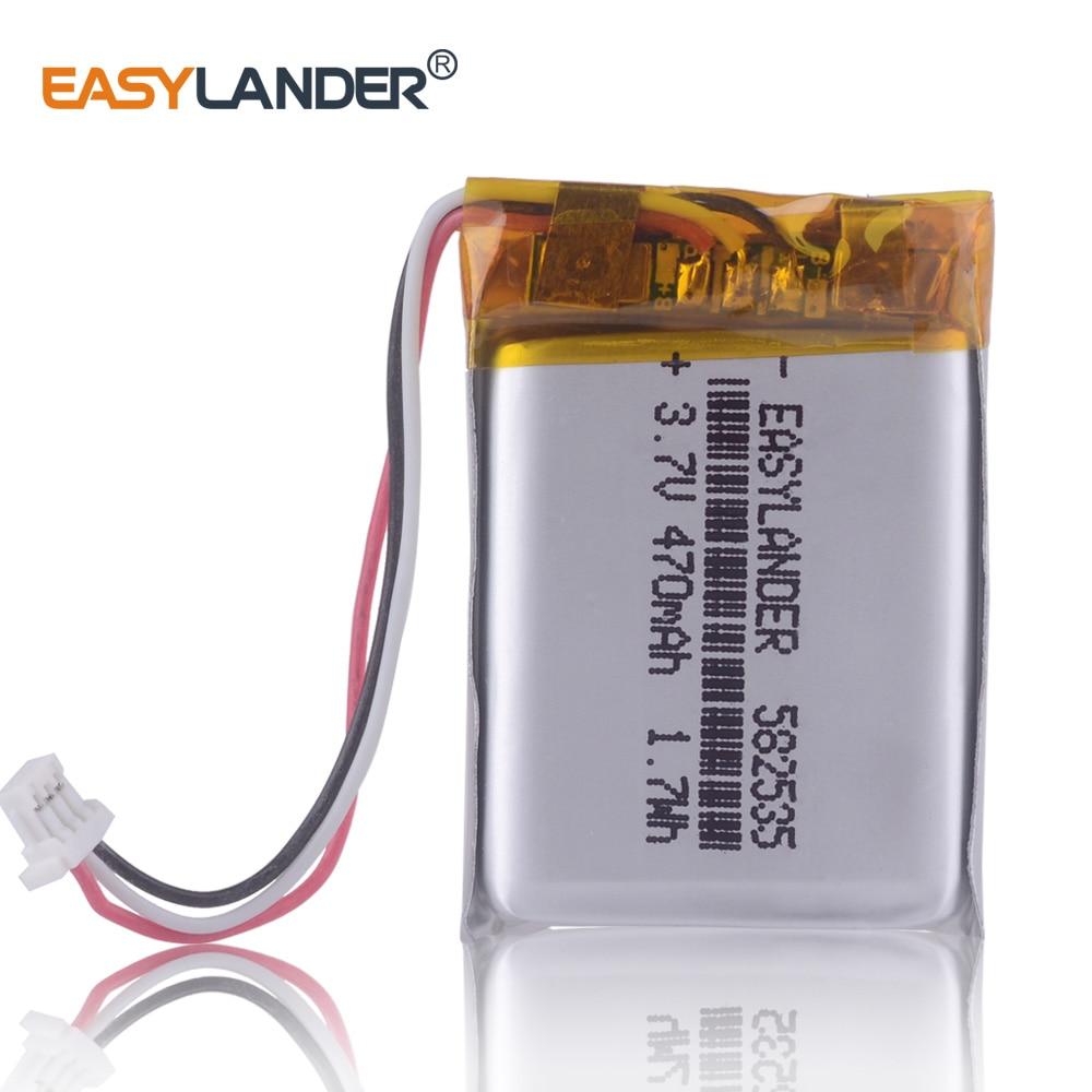 Батарея для MIO 600 mio, ROHS, 582535, 602535, 470 мАч, 356hd, Mio, 369, папаго, parkcity, 710, MYSTERY, MDR-985HDG, Karkam, M1, SP5