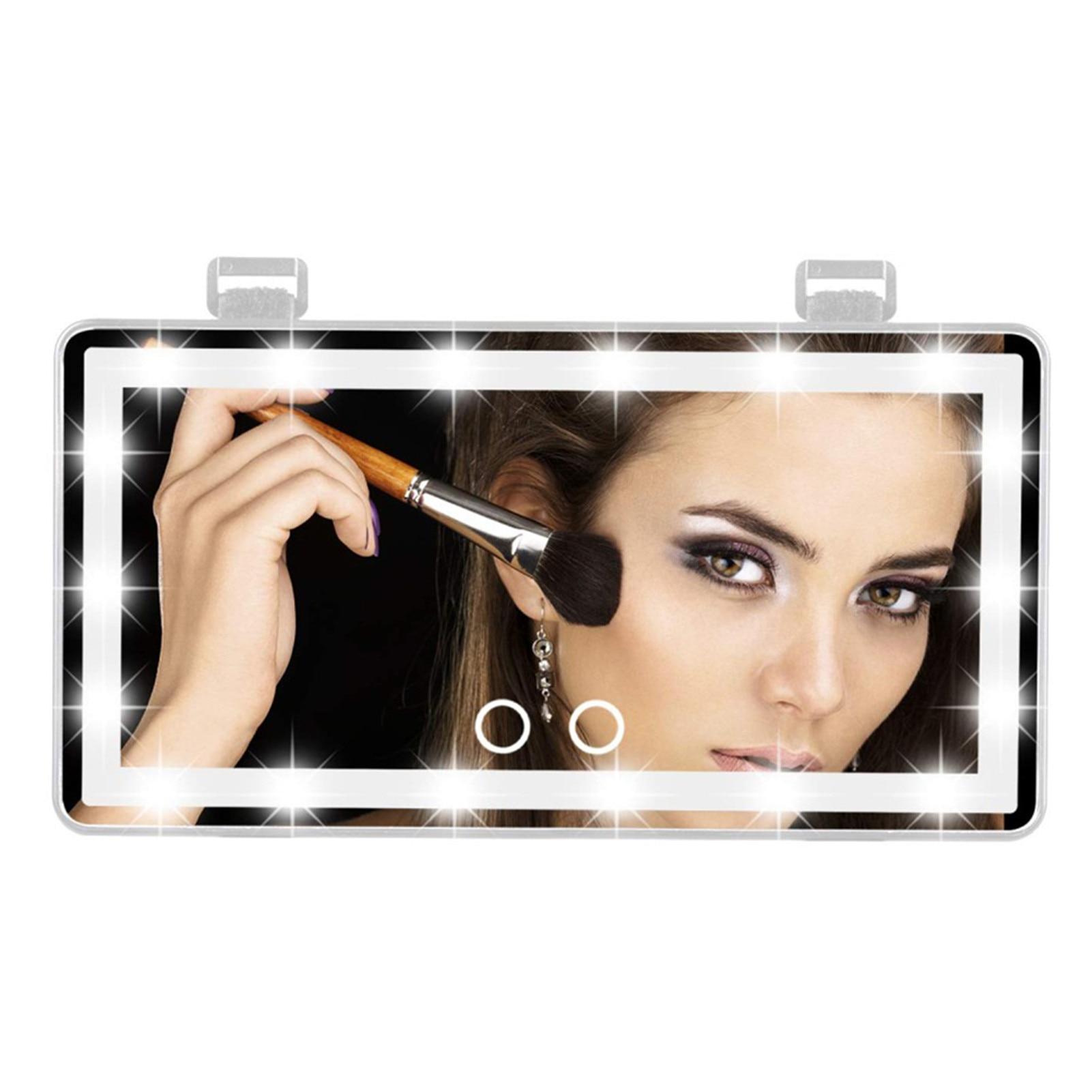 Универсальное зеркало для макияжа, Автомобильное Зеркало с сенсорным выключателем, регулируемое