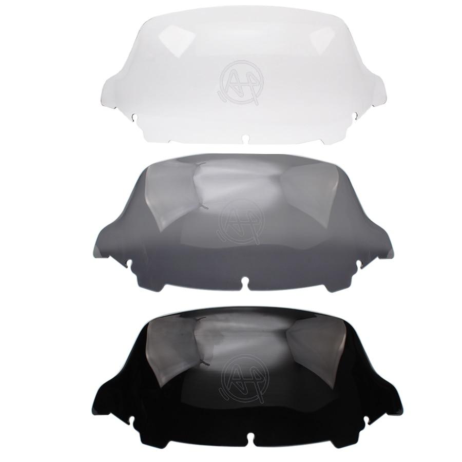 زجاج أمامي لدراجة نارية بلاستيك ABS 3 ألوان ، زجاج أمامي 10 بوصة ، حصيرة لهارلي ، تورينج ، إلكترا ، ستريت جلايد ، 2014-2019 ، 2018