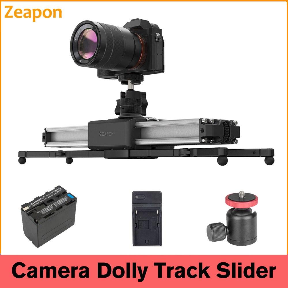 Zeapon مايكرو 2 زائد حامل كاميرا متحرك مزدوج المسافة حامل كاميرا متحرك دوللي المسار فيديو مثبت السكك الحديدية ل DSLR كاميرا فيديو فيلم
