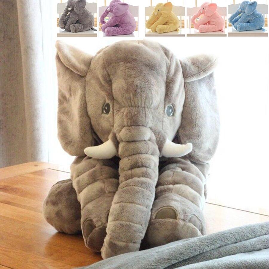 Peluches para bebé, juguetes para niños, almohada suave de elefante, juguetes grandes de elefante, peluches, regalo para niños, triangulación de envíos