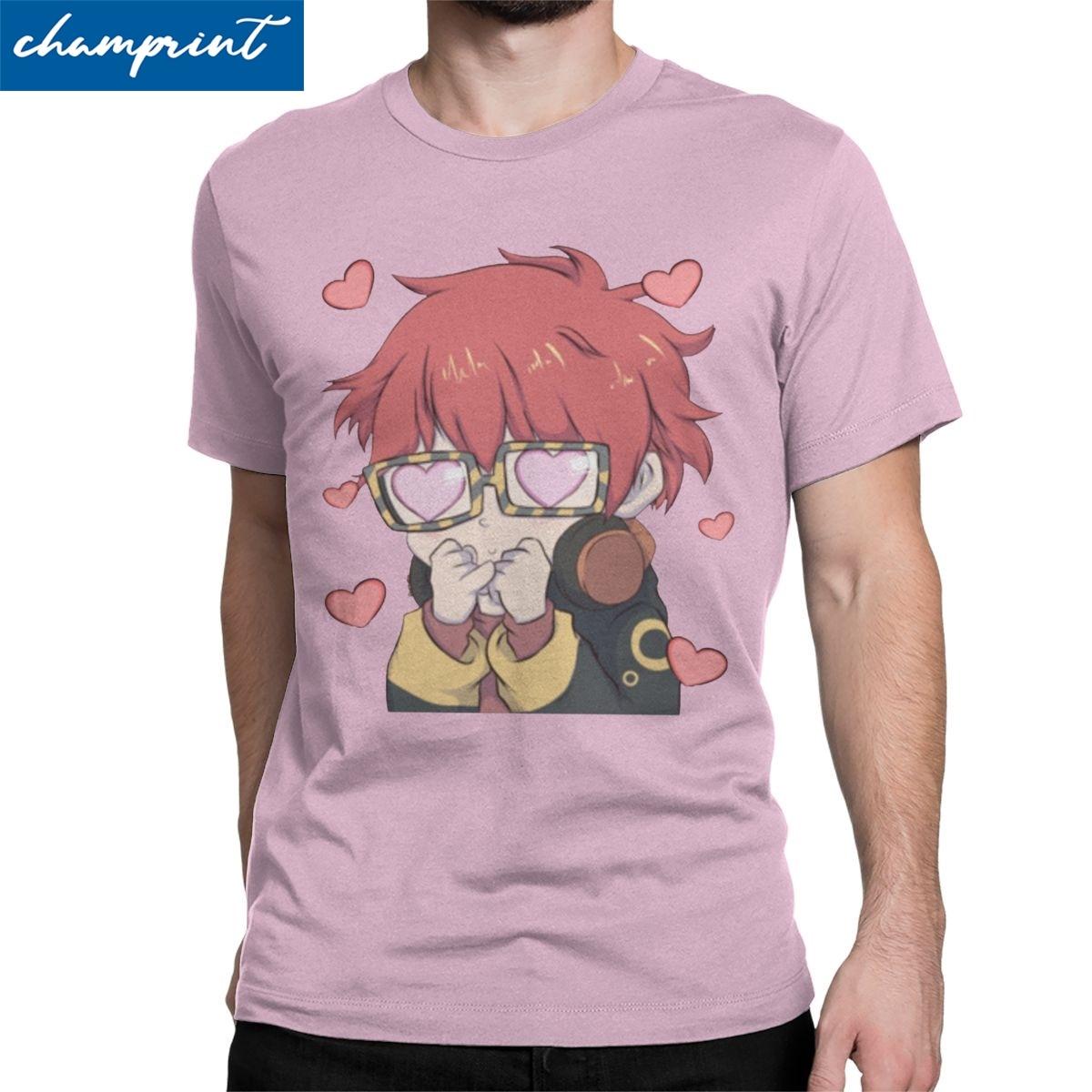 707 Meow T Shirt dla mężczyzn bawełniane modne t-shirty mistyczny posłaniec MM BG Otome gra koszulka odzież z krótkim rękawem Plus rozmiar