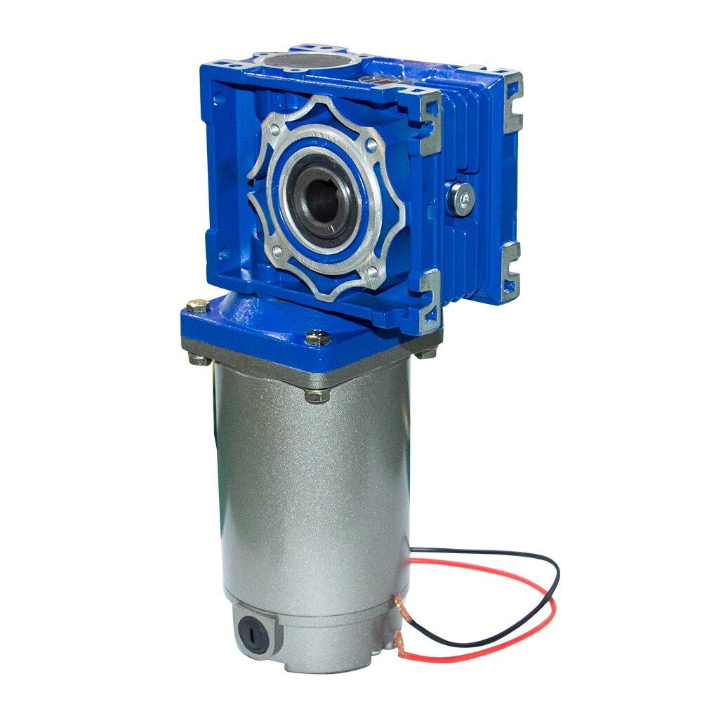 Alta Potencia 180 vatios 12/24/220V alto par Motor de tornillo sin fin de CC 22/30/36/45/60/90/180/240RPM con reductor de velocidad de caja de cambios NMRV040