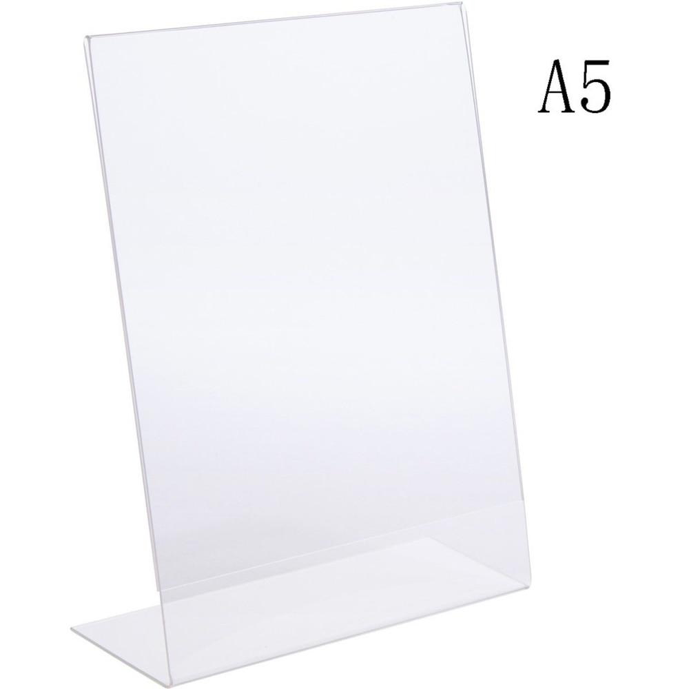 210*148 мм акриловый L-образный ценник, держатель для дисплея, список меню, этикетки, подставки для знаков, стойки для постеров