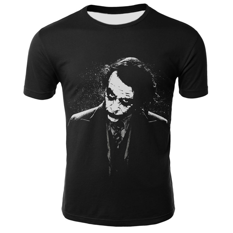 Summer 2020 New 3D Clown T-shirt Wild Casual Fashion T-Shirt Short Sleeve Joke Boy Jacket Cool men clothing