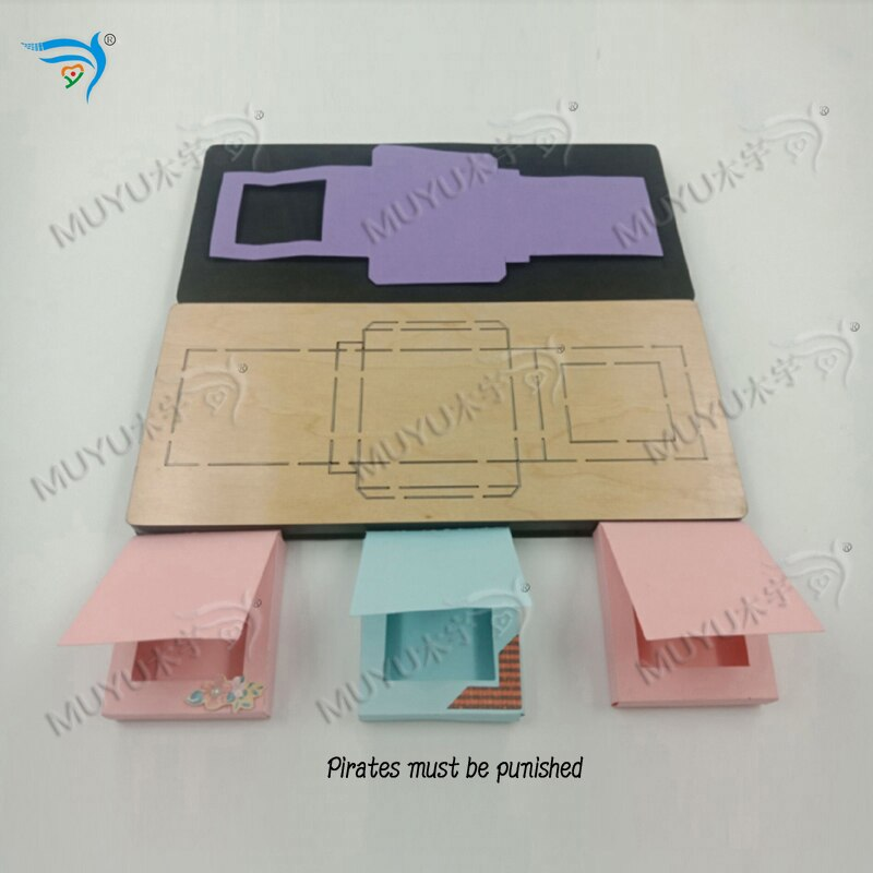 Caja de salsa de chocolate muyu troquel de corte-nuevo molde de madera troqueles de corte para scrapbooking MY7781