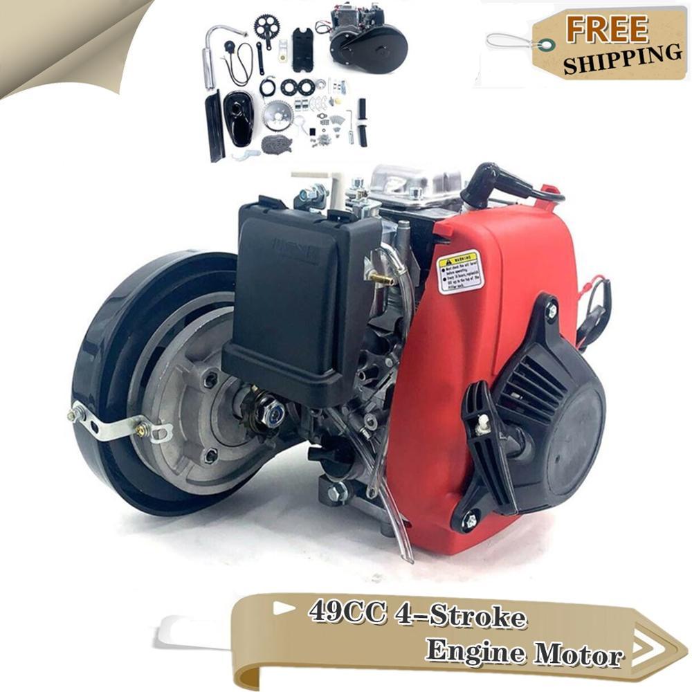 4 tempos 49cc motor completo kit puxar começar a gasolina motorizado para bolso mini motocicleta sujeira quad bike scooter atv buggy