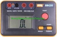 Szbj BM4200 Aarde Weerstand Tester, Grond Bond Tester Auto Range 600V,200Ω/2kΩ