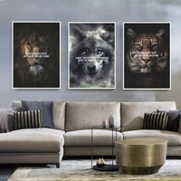 animal canvas painting office home decor poster pictures for bedroom lion tiger canvas painting frameless wall art
