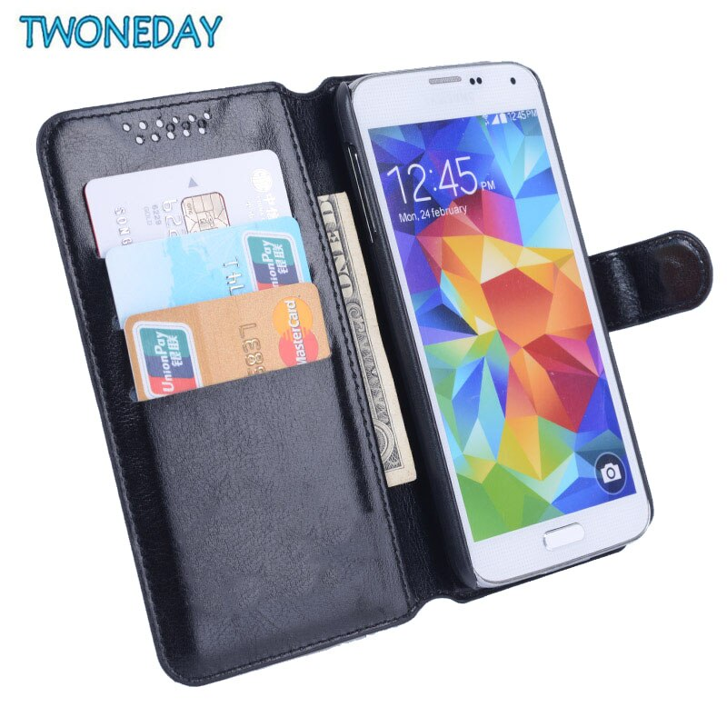 Funda de cuero de imitación de lujo para Asus ZenFone Go ZB500KL ZB500KG cartera en relieve patrón trébol bolsa de teléfono