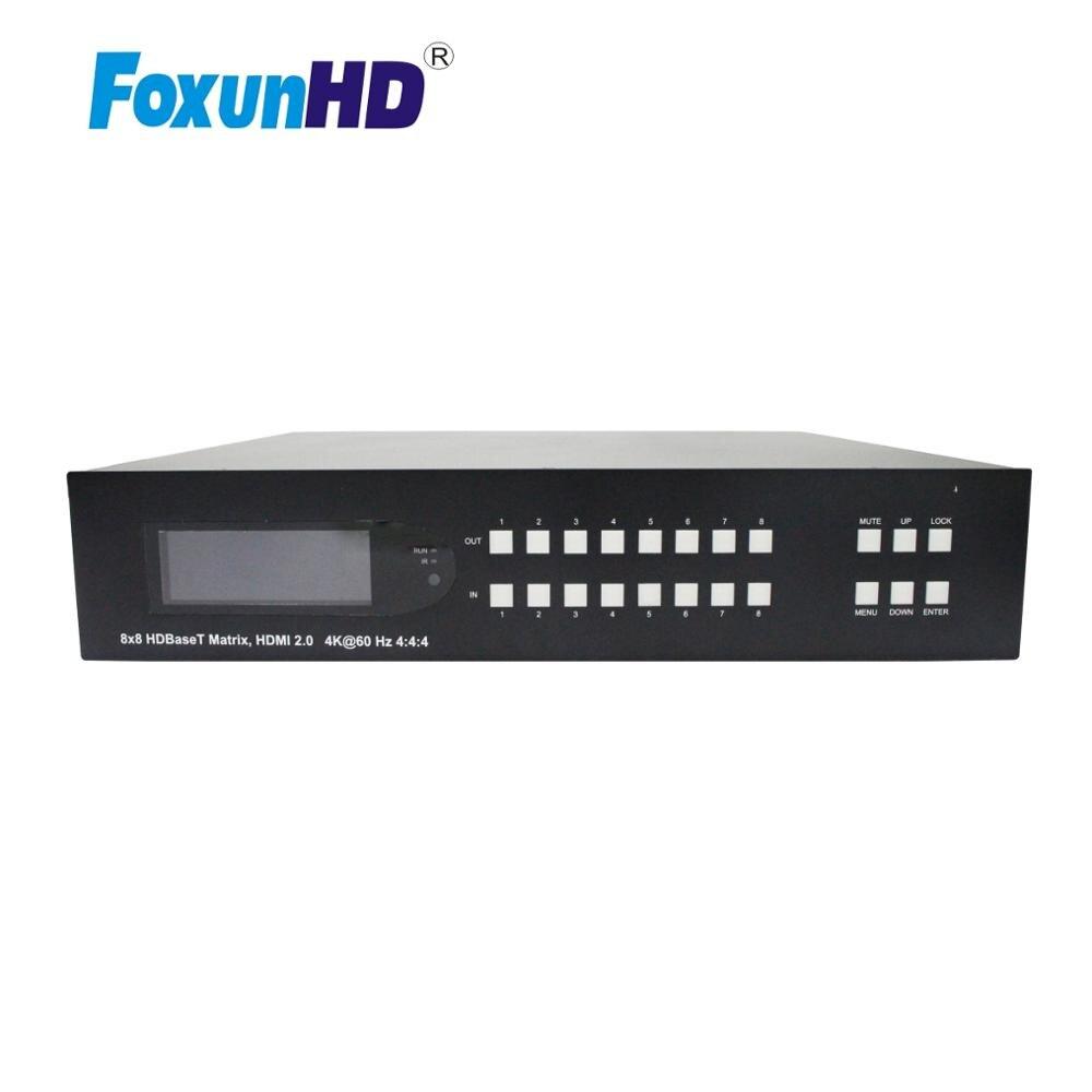 8x16 HDBaseT مصفوفة دعم لوحة زر/IR/RS232/IP التحكم MX12B 70m HDMI مصفوفة 4K