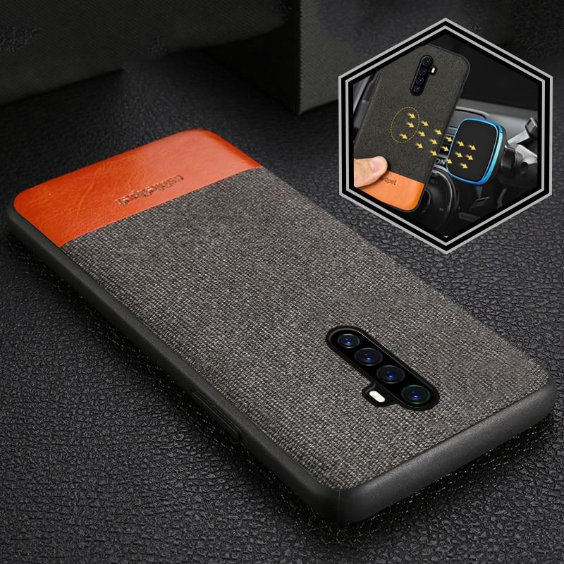 Funda de teléfono magnético de lona + cuero para Realme X2 Pro X2 X XT 5 Pro cubierta para OPPO A5 A9 2020 Reno 2 3 Z Reno Ace R17 K5 cubierta