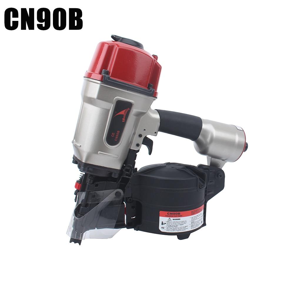Yousail-CN90B مسدس أظافر يعمل بالهواء المضغوط ، ملف صناعي ، فعال ، خفيف ، مسدس أظافر ، منصة نقالة ، عمق قابل للتعديل