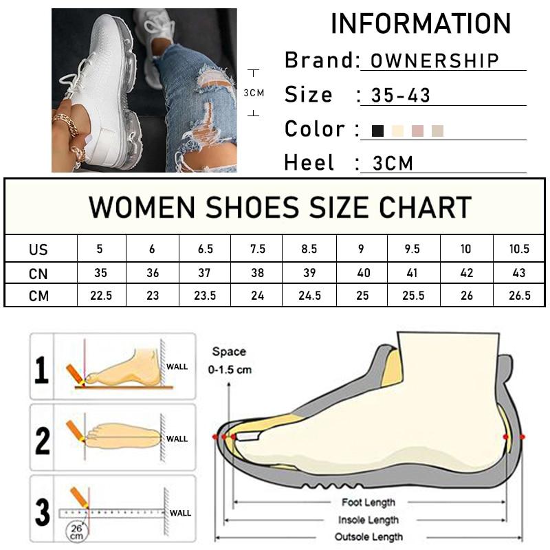 2021 Sneakers Women Air Cushion Mesh Breathable Woman Vulcanized Women's Casual Shoes Women's Lace Up Flat Footwear Big Size