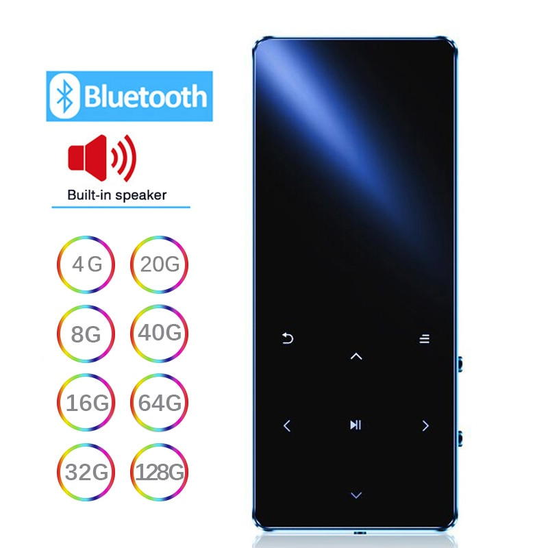 MP3 Player With Bluetooth Speaker Hifi Portable Walkman with Fm Radio Recording Built-in Speaker Tou