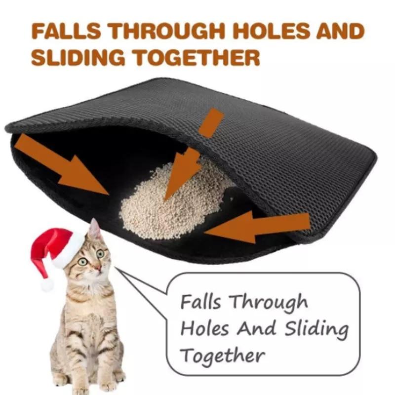 Waterproof Pet Cat Litter Mat EVA Double-layer Cat Litter Trap Dog Litter Mat Pet Mat Dog Mat Pet Supplies Bed Cat House Clean