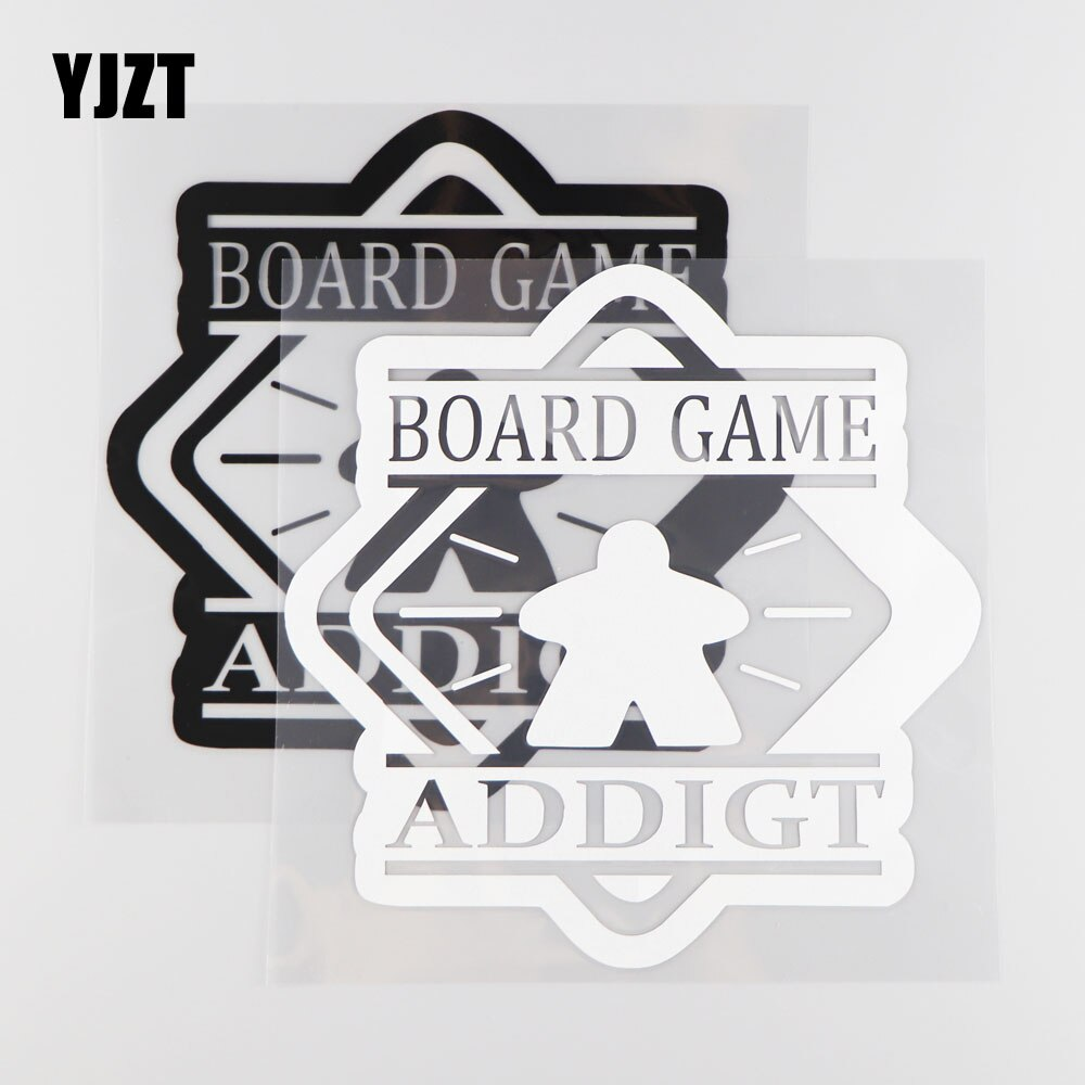 YJZT 20.3CM*20.3CM Board Game Addigt Car Styling Decal Car Body Stickers Vinyl Wordart Car Covers Black/Silver  4A-0211