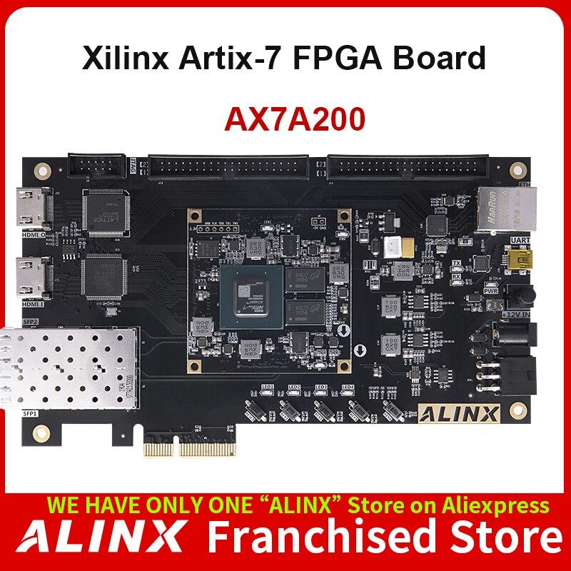 ALINX AX7A200: XILINX Artix-7 XC7A200T FPGA Development Board A7 SoMs XC7A 200T SFP PCIe