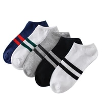10pcs5pairs mens socks cotton stripe boat socks all seasons spring autumn male casual harajuku breathable men ankle sock meias