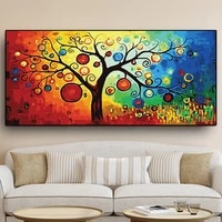 tree of life money tree oil art painting on canvas posters and prints abstract wall art pictures for living room decor