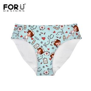 FORUDESIGNS Women Panties Nurse Patterns Girls Teenager Breath Seamless Underwear Nursing Brand Design Sexy Comfortable Panties