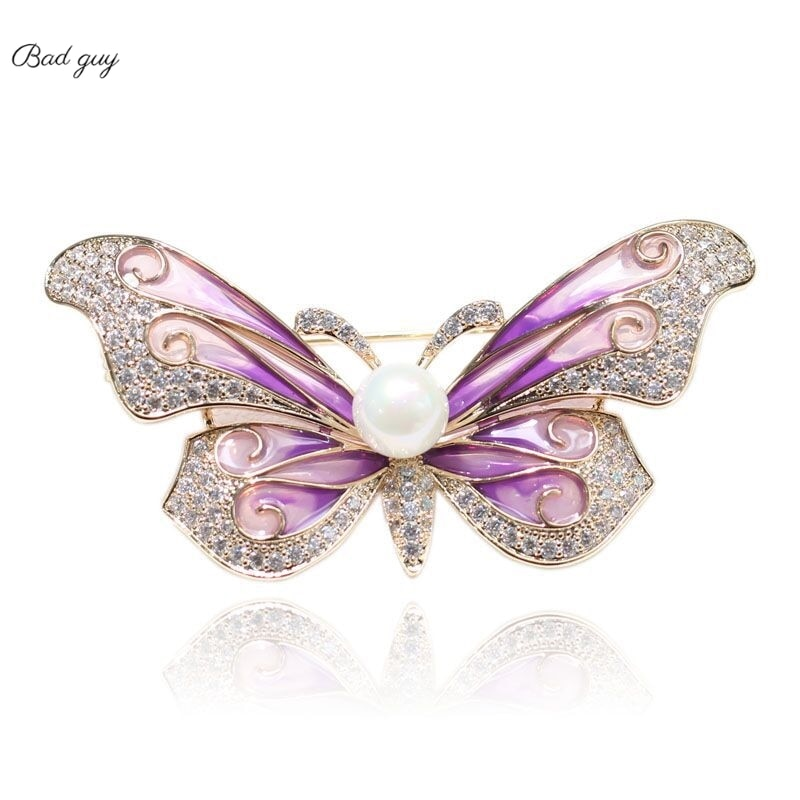Elegant Butterfly Vintage Brooch For Women's multicolor Pin Jewelry Office Clothes Scarf Buckle Garm