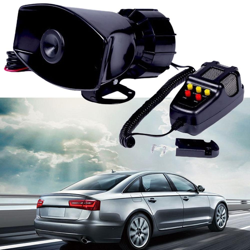 1 Pcs Car Motorcycle Megaphone 12V 100W Car Truck Alarm Police Fire Loud Speaker Pa Siren 5 Tone Sound Horn Mic