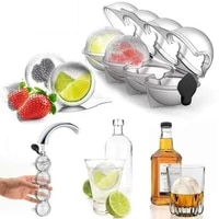4 cell ice cube maker diy ice ball molds for whiskey cocktail bar useful round ball ice makers bar accessories kitchen tool