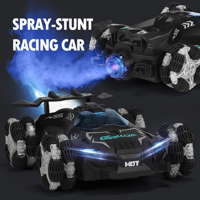 Rc Drift Spray Racing Car High-speed Music Light 2.4g Remote Control Children's Electric Charging Toy Car Remote Toys for Boys