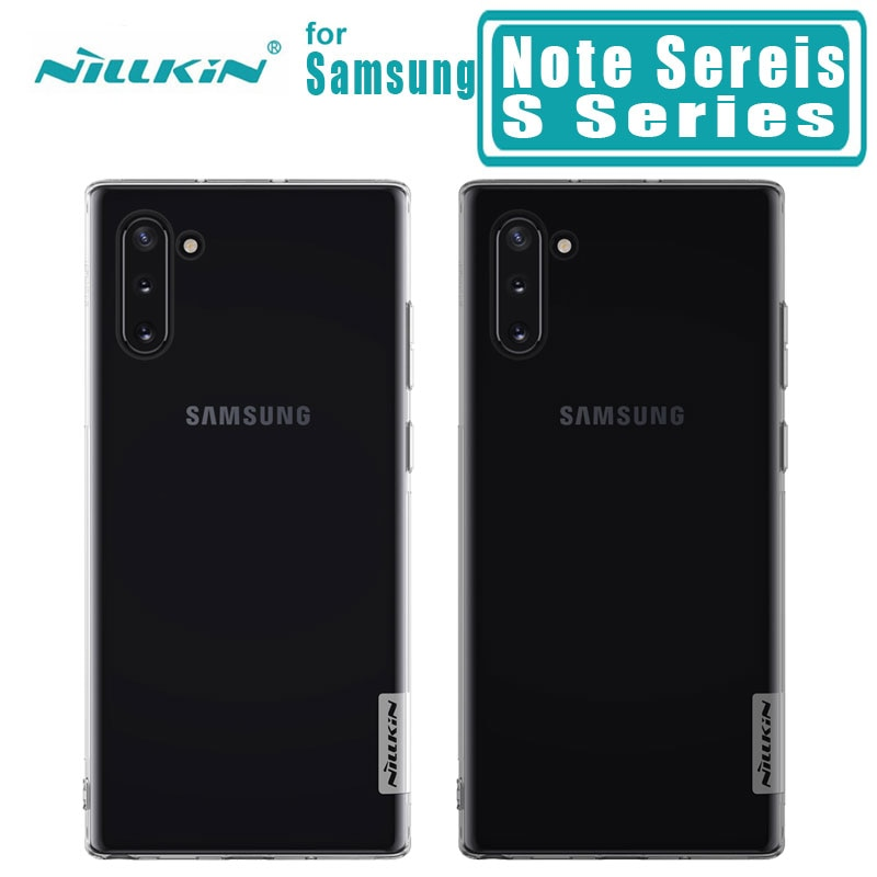 Para samsung Galaxy Note 10 10 Plus 5G 9 8 7 Cubierta trasera Nillkin TPU para samsung s10 S10 más S10e S9 S8 Plus