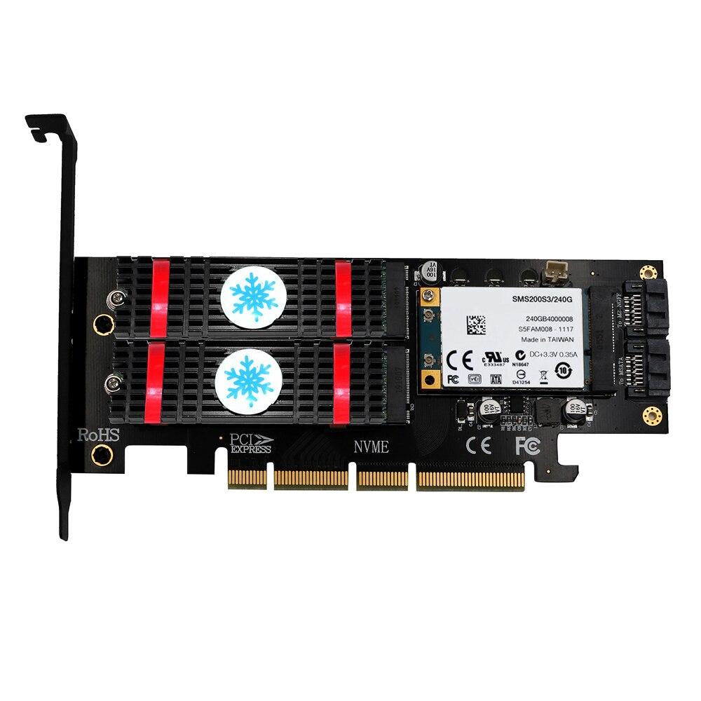 مهايئ من qالهندي NVME M.2 NGFF MSATA SSD PCI Express Riser Card PCI-E PCI E PCIE to M2 مهايئ M.2 Raiser M2 SATA مهايئ M.2 SSD