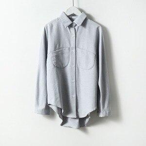 Новинка 2020, летняя блузка, корейские приталенные женские блузки с длинным рукавом, Модные Винтажные женские рубашки
