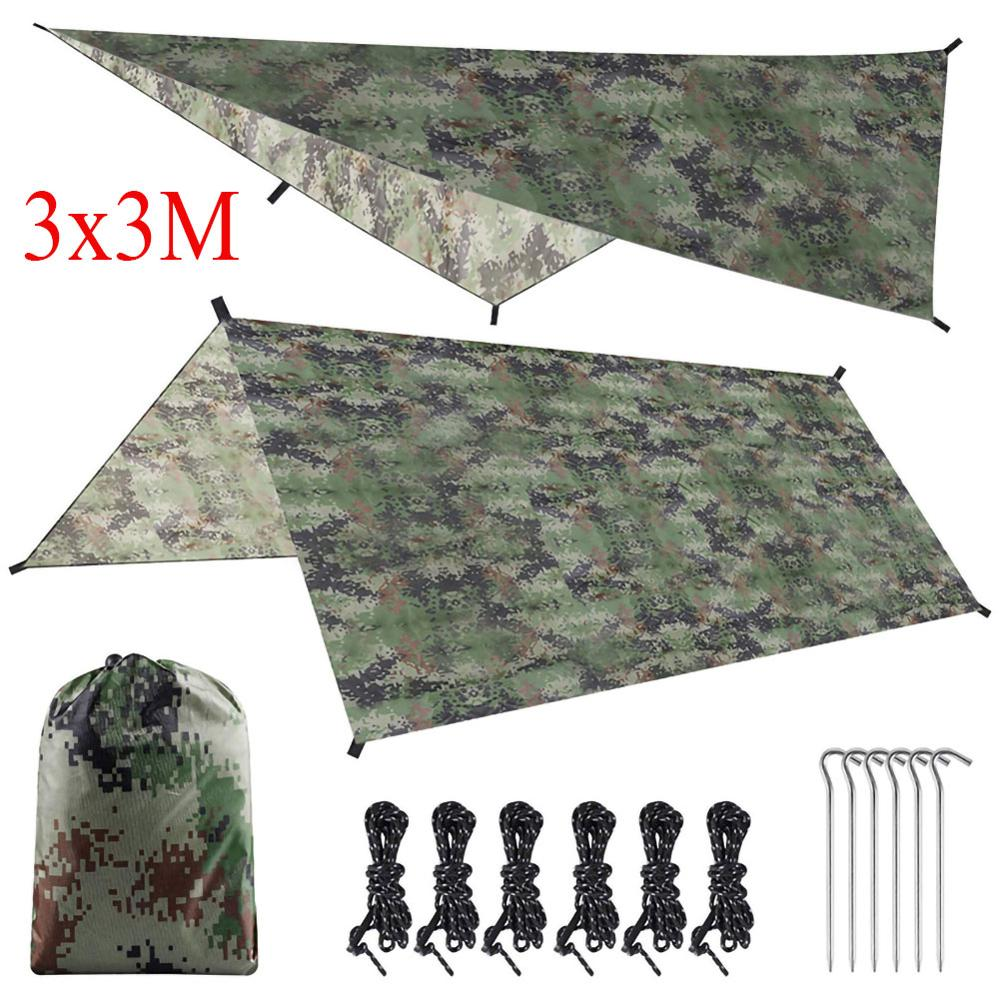 Tourist Awning Canopy Tarp Tent Shade Ultralight Garden Canopy Sunshade Outdoor Camping Hammock Waterproof Camouflage Shelter