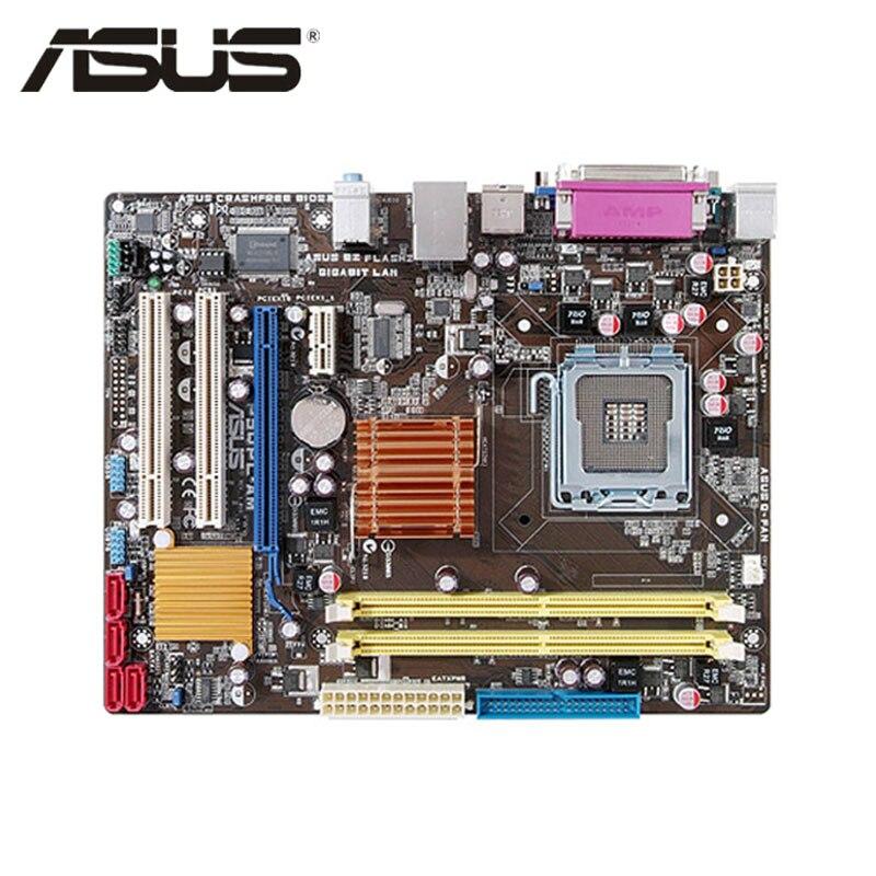Placa base LGA 775 ASUS P5QPL-AM para Intel G41 DDR2 P5QPL AM placa base uATX USB2.0 PCI-E X16 Placa de sistema usada