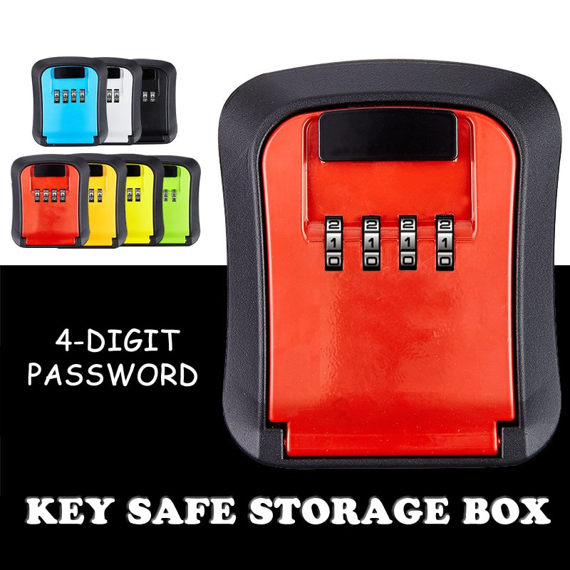 Key Safe Storage Box Wall Mounted Hidden Secret Organizer Box with 4 Digit Combination Password Lock House Car Spare Keys Safe isaac otidi amuke safe house single