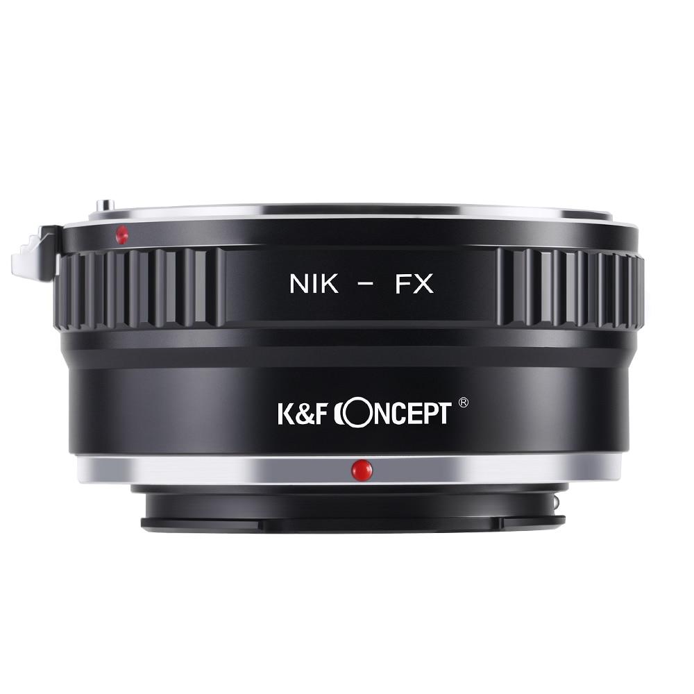 K&F CONCEPT Camera Lens Mount Adapter Ring for Nikon AI AF Lens to for Fujifilm Fuji FX X-series X-Pro1 X-E1 Mirroless Camera lr fx leica r lens to fujifilm x pro1 mount adapter black