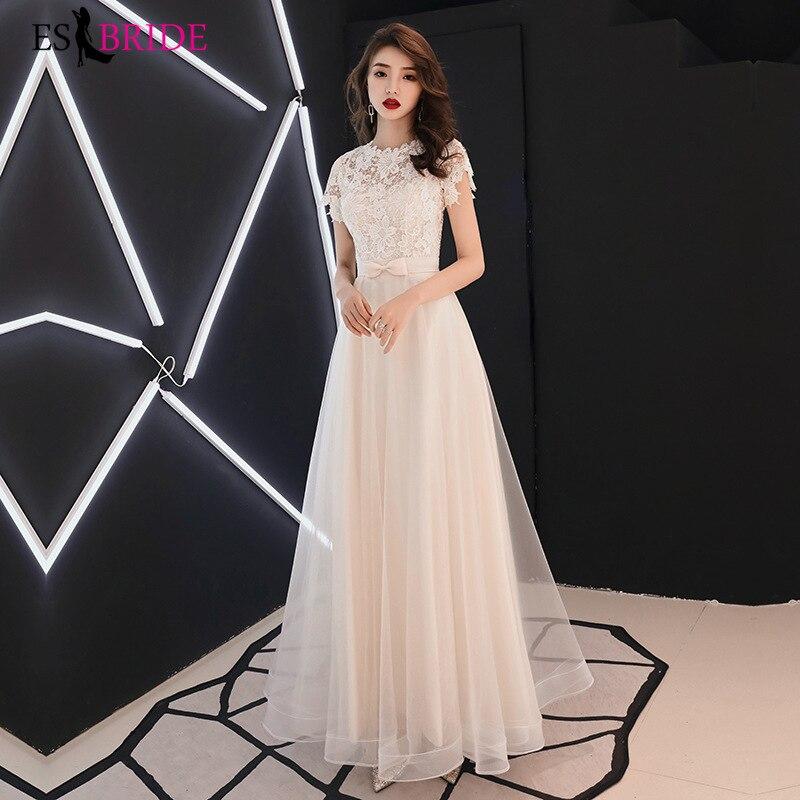 فستان وصيفة الشرف الأبيض 2020 جديد الصيف أنيقة طويلة التخسيس المضيف فستان مأدبة المرأة