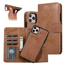 Magnetic Leather Case For iPhone 11 Pro Max 12 Pro Max XS XR X Detachable Wallet Case For iPhone 8 Plus 7 6 6s 5s SE 2020 Cover