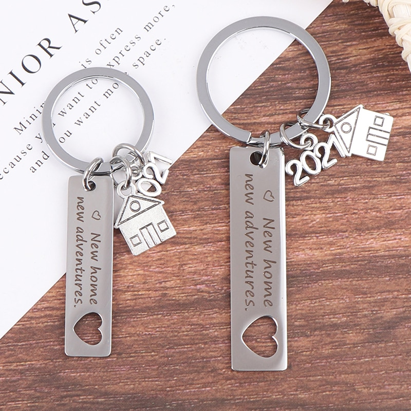 aliexpress.com - New Beginning Congratulations keychain Home Keychain 2021 Housewarming Gift For New Homeowner House