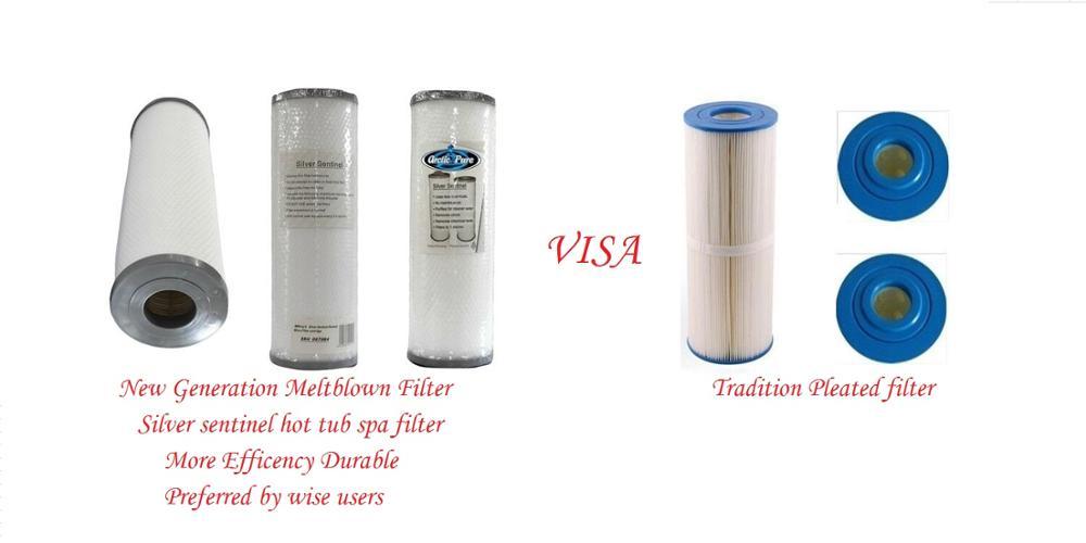 فلتر حوض استحمام طويل بفتحة 33.5 سنتيمتر ، قطر 12.5 سنتيمتر ، 5.4 سنتيمتر ، يناسب معظم أنواع السبا Winer Kingston ، Mesda