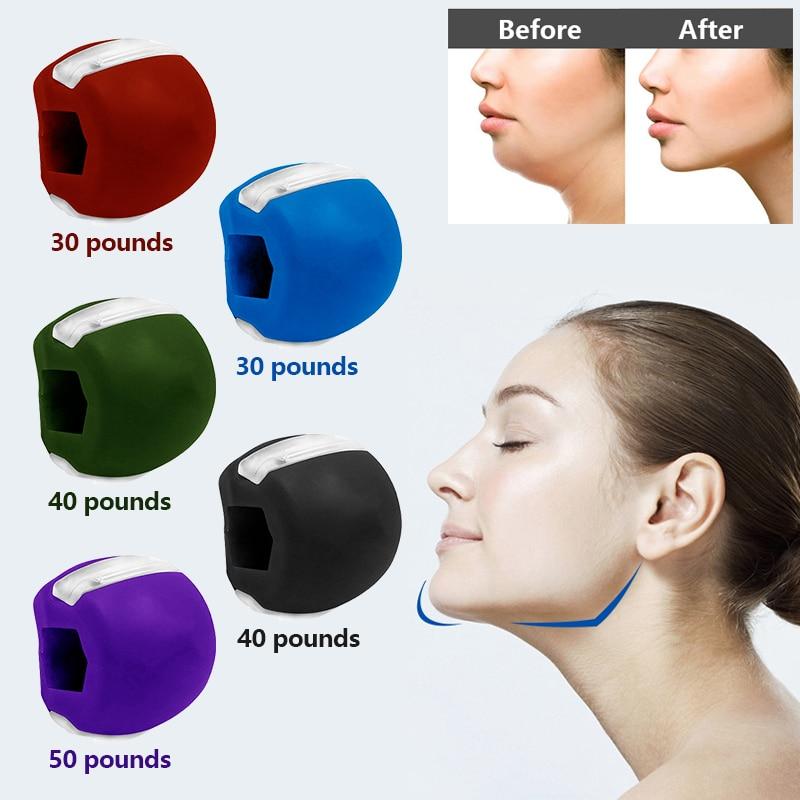 Пищевой силикагелевый тренажер для мышц, Тренировка мышц, фитнес-мяч для шеи, лица, тонизирующие мышцы, лифтинг лица