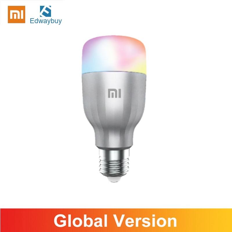 Xiaomi Mijia-لمبة LED E27 ذكية ، مصباح أبيض وملون ، جهاز تحكم عن بعد مع تطبيق صوتي ، WIFI ، 10W 1700-6500K ، إصدار عالمي